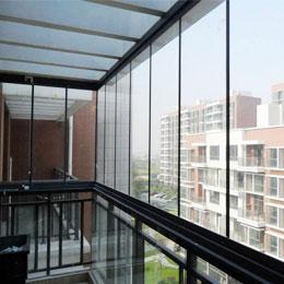折叠无框窗封阳台