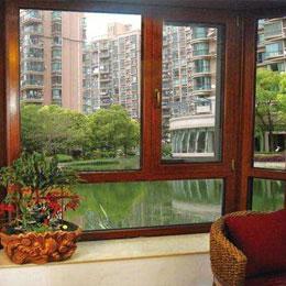 木铝复合封漂窗阳台