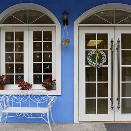 欧式实木玻璃门窗