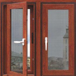 木铝复合金刚网平开纱窗