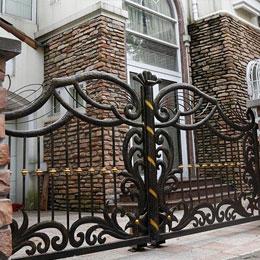 复古雕花庭院铁艺大门