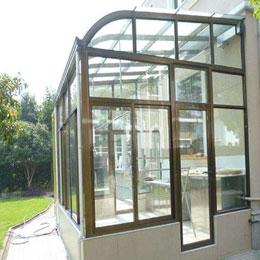 钢化玻璃弧形顶阳光房