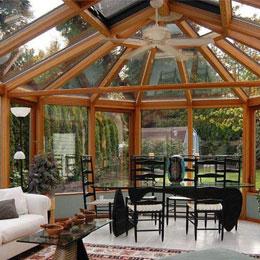 木铝结构阳光房